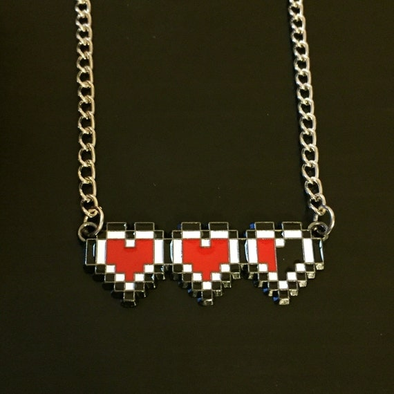 Zelda Heart Container Necklace: The Legend Of Zelda Heart Container Necklace By EpicButtons