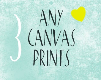 Choose Any 3 CANVAS or PRINTS Create Your Own Set of 3 Wall Art