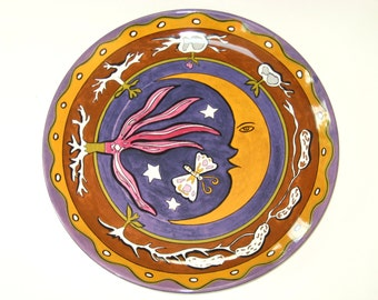 Block Bernarda MMA Metropolitan Museum of Art Diego Rivera Moon Butterfly Wall Plate Platter