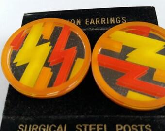 Vintage Mirror Post Earrings