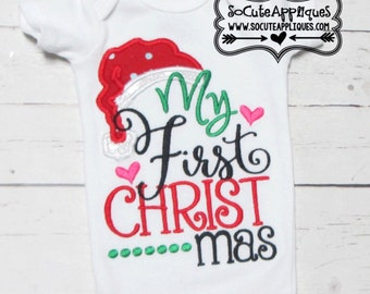 Little miss North Pole - Holiday applique shirt - Christmas applique shirt - christmas shirt - girls holiday shirt - holiday applique