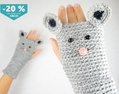 Mouse Fingerless Gloves ~ FREE Shipping Worldwide