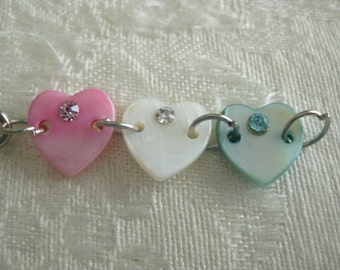 Interchangeable Charms for DIY bracelets/Buy 1 or many/interchange to match your wardrobe Triple heart