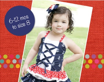 Charlotte's Corset Top PDF Pattern Sizes 6/12 months to 8 girls
