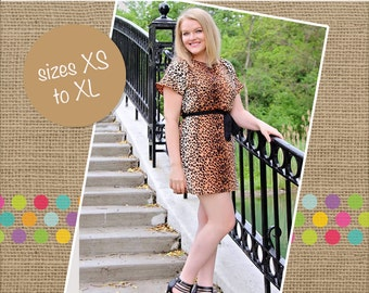 Danika's Women's One-Piece Top and Dress PDF Pattern size XS to XL
