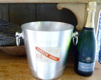 Vintage Champagne Bucket French GH Mumm Champagne Chiller Ice Bucket Wine Holder Vintage Barware Mid Century Bar Accessories