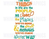 Digital File - Best Things In Life Wording with SVG, DXF, PNG Commercial & Personal Use