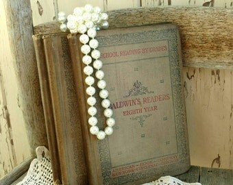3 Antique Baldwin Readers - Instant Vintage Book Set, Home Decor, Picture Prop, Wedding Decor, Old School Books, Hardback Reading Material