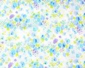 Watercolor floral double gauze from Kobayashi in blues, imported fabric from Japan, by the yard