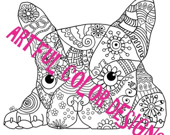 click the english bulldogs with puppy coloring pages to view