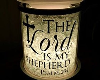 The Lord is my Shepherd Psalm 23:1 Decal for Candle Warmer (Decal Only)