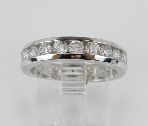 1.00 ct Diamond Wedding Ring Anniversary Band White Gold Size 4.75