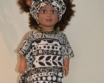 Ethnic doll outfit for 18 inch doll