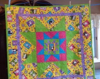 Starring Cats! Catlovers Quilt, Kitty Lap Quilt, 0216-01
