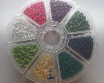 3mm Glass Seed Beads, Variety Pack, Approximately 150g, SB1
