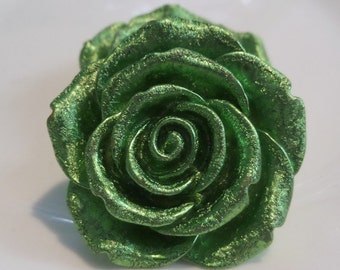 42mm Green Flower Pendant for Chunky bead  Necklace, J17