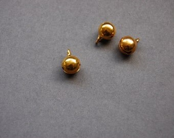 3pc Gold Bell Charm