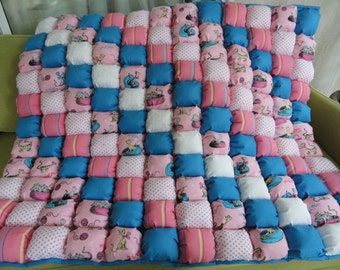 Dr. Seuss Pink Bubble Quilt 36x42 by Karrirose