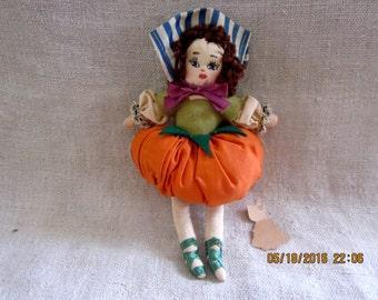 Peter Pumpkin Eaters Wife Vintage Cloth Doll - Vintage Doll