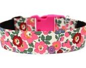 """Flower Dog Collar 1.5"""" Floral Dog Collar"""