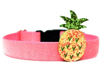 Dog Accessory Summer Dog Collar Add-on Pineapple