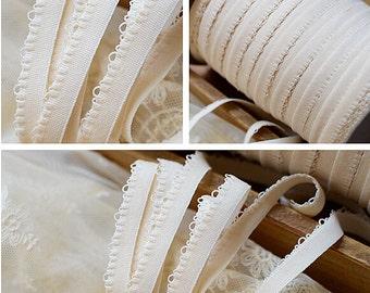 "30 meter 1.1cm 0.43"" wide stretch elastic underwear tapes lace trim ribbon ertt free ship"