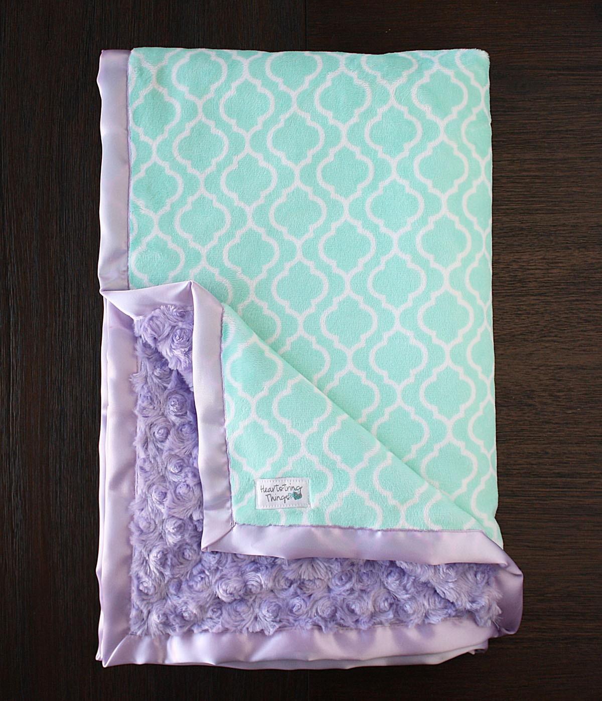 Minky Blanket Baby Girl Custom Baby Girl Blanket By