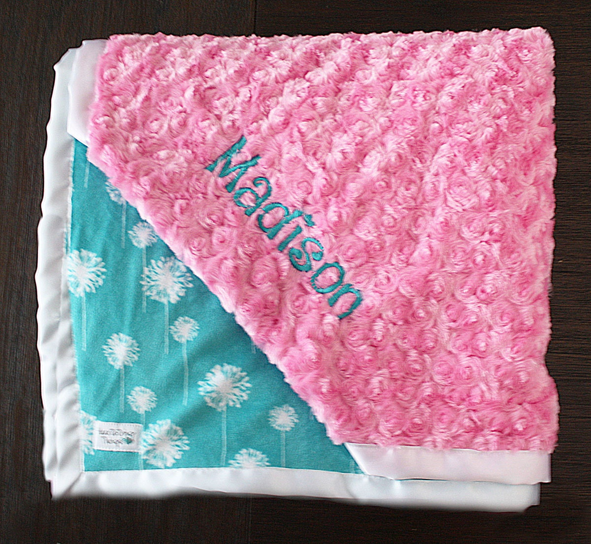 Embroidered Minky Blanket Blanket with name Baby Girl Baby