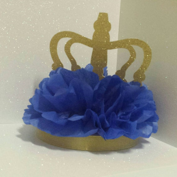 Royal little prince gold crown centerpiece baby shower