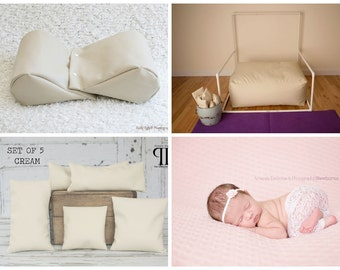 Starter Set #12 ~ Posey Pillow Rectangulum, Backdrop stand, Squishy Poser & Set of 5 Positioners. Newborn photo props by Posey Pillow