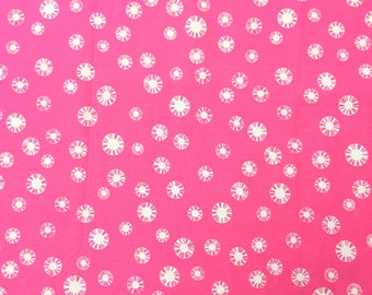 Hot Pink Flower Polka Dots - Fat Quarter