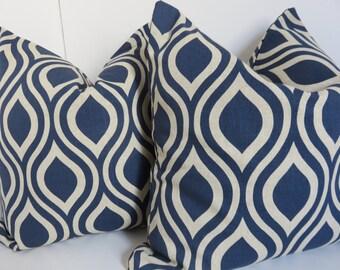 Blue pillows - Blue Beige Pillows - Blue Pillows- Beige Pillows- Pillow Covers- Beige pillos