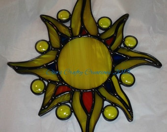 Handcrafted Stained Glass Celestial Sunburst