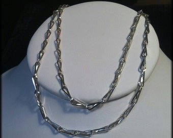 Sterling Silver Chain, Wire Wrapped Necklace, Handmade Necklace,FREE SHIPPING In The United States