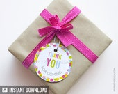 Baby Sprinkle Thank you Tags - Circles - Baby Shower - INSTANT DOWNLOAD - Printable PDF