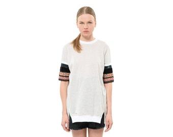 Ethnic style, Summer Sweatshirt, short sleeves, spring 2016,
