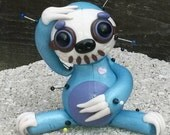Bella McWhizzy.  Sloth Voodoo Doll. Hand Sculpted Polymer Clay Figurine