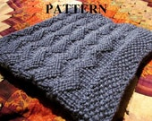 Knitting Pattern: Chunky Yarn Knit Baby Blanket in Chevrons *INSTANT DOWNLOAD*