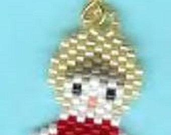 Here is the cutest little snowman with a red scarf dangling earrings