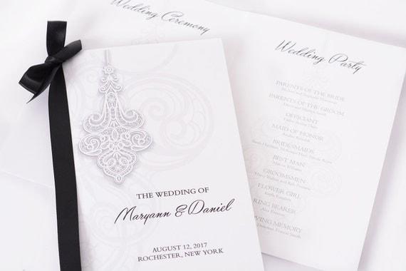 Formal Wedding Programs Printed Wedding Books Wedding Stationery