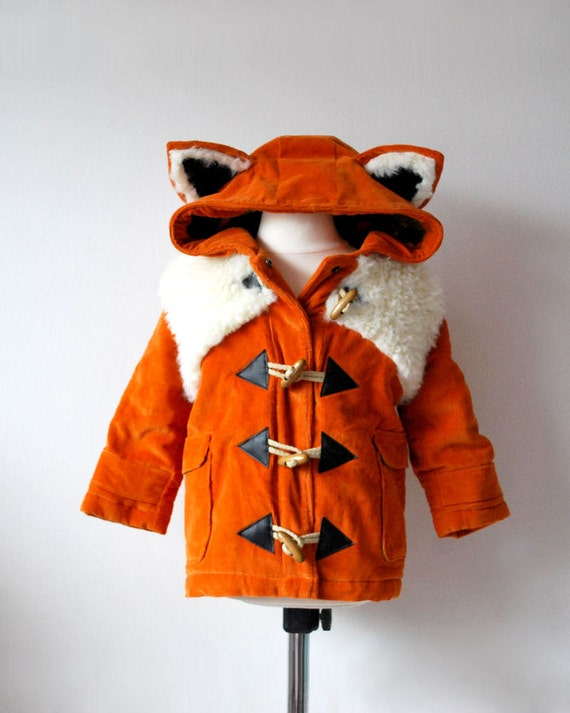 Fox coat JANUARY 2018 pre order orange childrens animal