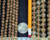 Natural Citrine 6mm/10mm Round Beads Strand, 16-Inch Strand G01124