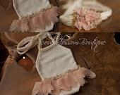 Newborn Photo Prop - Newborn Romper. Ballerina. Jersey knit Tieback. Newborn Halo.  Beaded.  Knit.  Organic Photography Props, fancy lace