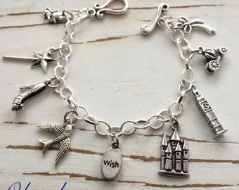 Cinderella inspired Charm Bracelet, by Okrrah (without crystal)