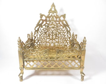 Beautiful Vintage Brass Stand - Ornate Brass Container