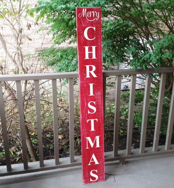 Vertical outdoor sign front door decor christmas sign custom for Outdoor christmas signs