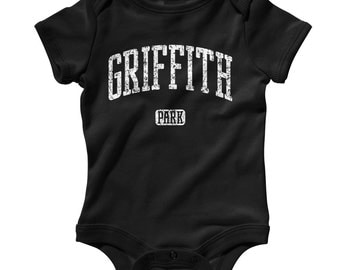 Baby One Piece - Griffith Park LA - Infant Romper - NB 6m 12m 18m 24m - Baby Shower Gift, Griffith Observatory, Los Angeles - 3 Colors