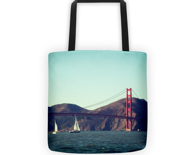 Sailing Past Golden Gate Bridge Tote for Eco Shopping and School and Sundry