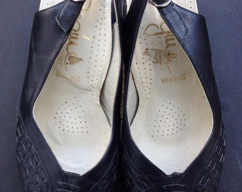 Peeptoes Pumps  true Vintage Hipster shoes retro Boho Recycling-fashion streetstyle Sale!!!
