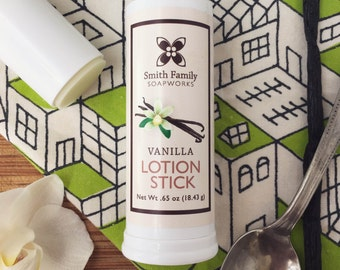 Vanilla Lotion Stick - All Natural, Solid Lotion, Handmade, with Shea Butter and Olive Oil